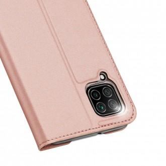 """Rožinis-auksinis atverčiamas dėklas Huawei P40 Lite telefonui """"Dux Ducis Skin"""""""