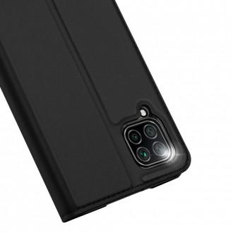 """Juodas atverčiamas dėklas Huawei P40 Lite / Nova 6 SE / Nova 7i telefonui """"Dux Ducis Skin"""""""