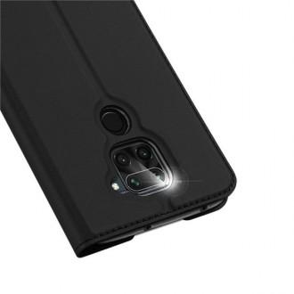 """Juodas atverčiamas dėklas Xiaomi Redmi Note 9 telefonui """"Dux Ducis Skin"""""""