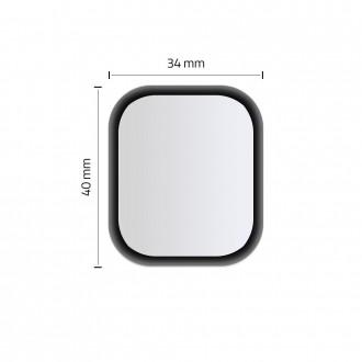 Juodas apsauginis stiklas Apple Watch 4/5 (44MM) laikrodžiui ''HOFI Hybrid''
