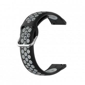 """Juoda-pilka apyrankė laikrodžiui Samsung Galaxy Watch 3 (45MM) """"Tech-Protect Softband"""""""
