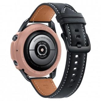"""Bronzinis dėklas laikrodžiui Samsung Galaxy Watch 3 (45MM) """"Spigen liquid air"""""""