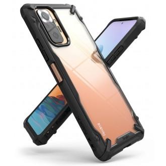 """Skaidrus, juodais tvirtais kraštais dėklas """"RINGKE FUSION X"""" Xiaomi Redmi Note 10 PRO telefonui"""