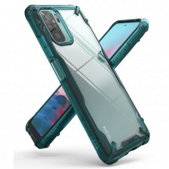 """Skaidrus/žalias dėklas Xiaomi Redmi Note 10 / 10s telefonui """"Ringke Fusion"""""""