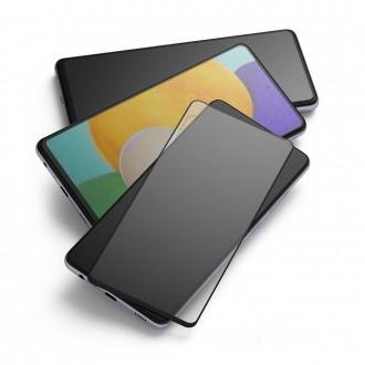 """Juodais krašteliais apsauginis grūdintas stiklas SAMSUNG A72 telefonui """"Ringke ID FC Glass"""""""
