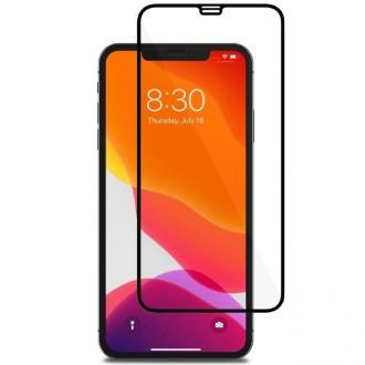 """3D juodais apvadais apsauginis grūdintas stiklas Apple iPhone XS Max / 11 Pro Max telefonui """"Diamond Hybrid Edge"""""""
