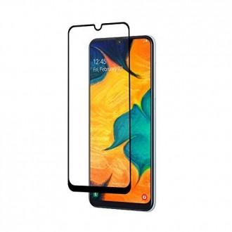 LCD apsauginis stikliukas 9D Full Glue Samsung A405 A40 juodas