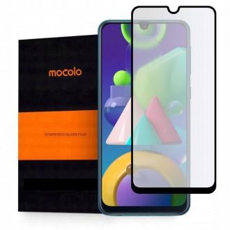 """Juodas apsauginis grūdintas """"Mocolo"""" stiklas Samsung Galaxy M21 telefonui"""