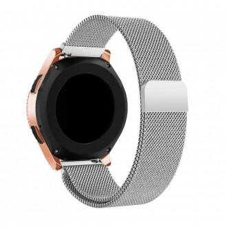 """Sidabrinė apyrankė laikrodžiui Samsung Galaxy Watch 3 (45MM) """"Tech-Protect Milaneseband"""""""