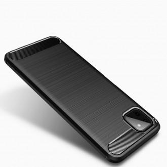 """Juodas dėklas Samsung Galaxy A22 5G telefonui """"TECH-PROTECT TPUCARBON """""""