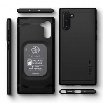 "Juodas dėklas Samsung Galaxy Note 10 telefonui ""Spigen Thin Fit Classic"""