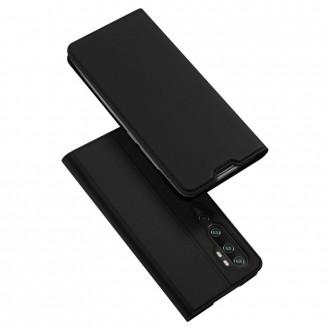 """Juodas atverčiamas dėklas Xiaomi Mi Note 10 / 10 Pro telefonui """"Dux Ducis Skin"""""""