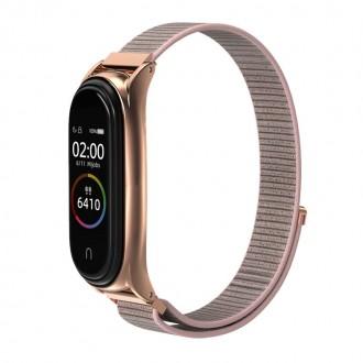 """Rausva apyrankė laikrodžiui Xiaomi Mi Smart Band 5 """"Tech-Protect Nylon"""""""