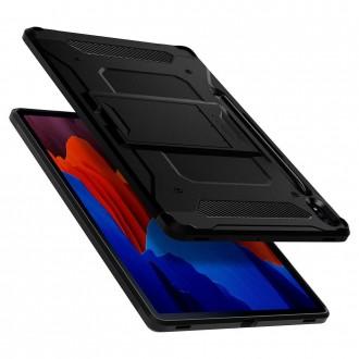 "Juodas dėklas Samsung TAB S7+ Plus 12.4 T970 / T976 telefonui ""Spigen Tough Armor Pro"""