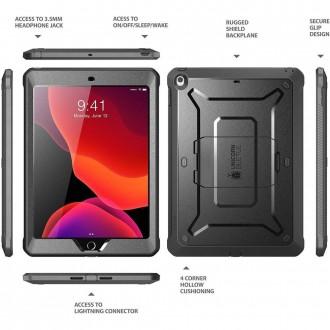 """Juodas dėklas iPad 7 / 8 10.2 2019/2020 telefonui """"Supcase Unicorn Beetle Pro"""""""