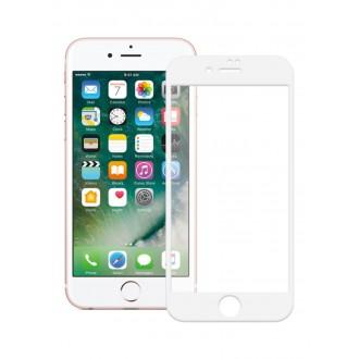 "5D baltas apsauginis grūdintas stiklas Apple iPhone 7 / 8 / SE 2020 telefonui ""Full Glue"""