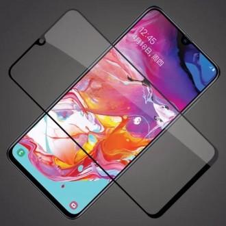 LCD apsauginis stikliukas 9D Full Glue Samsung A105 A10 juodas