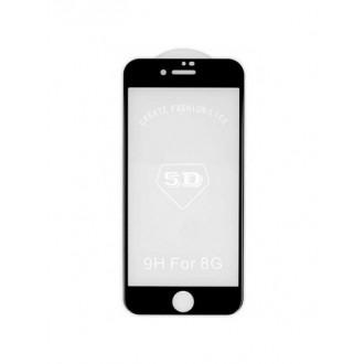 """5D juodas apsauginis grūdintas stiklas Apple iPhone 7 / 8 / SE 2020 telefonui """"Full Glue"""""""