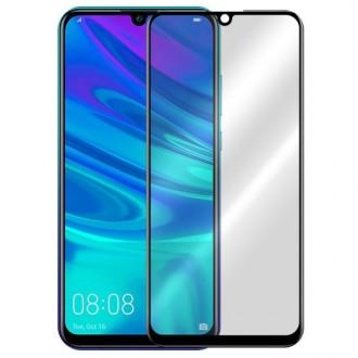 """5D juodas apsauginis grūdintas stiklas Huawei P Smart Plus 2019 telefonui """"Full Glue"""""""