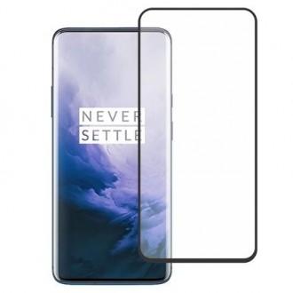 """5D juodas apsauginis grūdintas stiklas OnePlus 7 Pro / 7 Pro T telefonui """"Full Glue"""""""