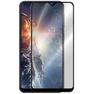 """5D Juodas apsauginis grūdintas stiklas Samsung Galaxy A105 A10 telefonui """"Full Glue"""""""