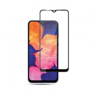 "5D Juodas apsauginis grūdintas stiklas Samsung Galaxy A505 A50 / A507 A50s / A307 A30s / A305 A30 telefonui ""Full Glue"""