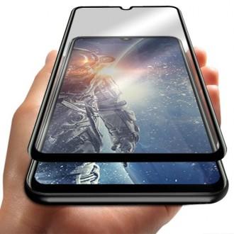 """5D Juodas apsauginis grūdintas stiklas Xiaomi Redmi Note 7 / Note 7 Pro telefonui """"Full Glue"""""""