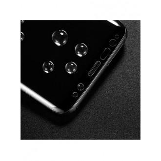 """5D Lenktas juodas apsauginis grūdintas stiklas Samsung Galaxy S8 telefonui """"Full Glue"""""""