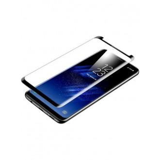 """5D Lenktas juodas apsauginis grūdintas stiklas Samsung Galaxy S9 telefonui """"Full Glue"""""""