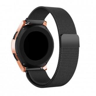 """Juoda apyrankė laikrodžiui Samsung Galaxy Watch 3 (45MM) """"Tech-Protect Milaneseband"""""""