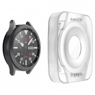 """Skaidrus apsauginis grūdintas stiklas Samsung Watch 4 (46mm) """"Spigen Glas.Tr Ez Fit"""" 3vnt"""