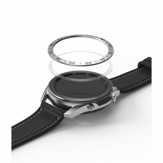 "Sidabrinis dangtelis Samsung Watch 3 (45MM) ""Ringke Bezel"""