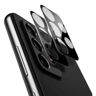 """Apsauginis grūdintas stiklas Samsung Galaxy A72 telefono kamerai apsaugoti """"Spigen Optik.TR Camera Lens"""""""