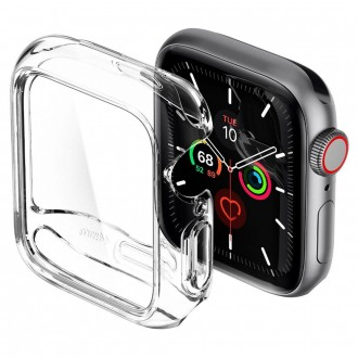 """Skaidrus dėklas laikrodžiui Apple Watch 4/5 (44MM) """"Spigen Thin Fit"""""""