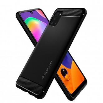 "Juodas dėklas Samsung Galaxy A31 telefonui ""Spigen Rugged Armor"""