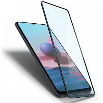 """Juodais krašteliais apsauginis grūdintas stiklas XIAOMI REDMI NOTE 10/10S telefonui """"Spigen Glass Fc"""""""