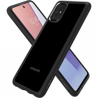 "Juodas dėklas Samsung Galaxy M31 telefonui ""Spigen Ultra Hybrid"""