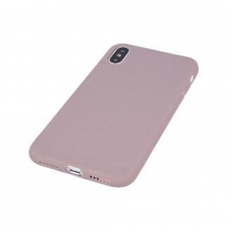 Šviesiai rožinis matinis silikoninis dėklas telefonui Samsung A22 5G
