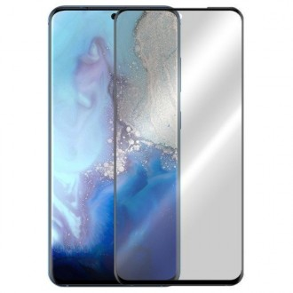 Apsauginis grūdintas stiklas ''5D Full Glue '' Samsung Galaxy G981 S20 telefonui (be išpjovimo antspaudui)