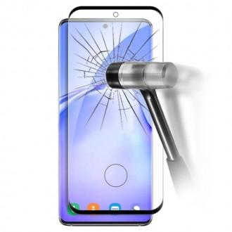 Apsauginis grūdintas stiklas ''5D Full Glue '' Samsung Galaxy G981 S20 telefonui (Su išpjovimu piršto antspaudui)