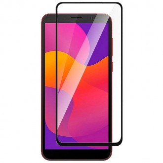 Apsauginis grūdintas stiklas ''9D Full Glue '' Huawei Y5P telefonui