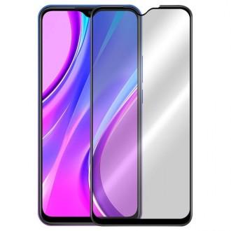 Apsauginis grūdintas stiklas ''9D Full Glue '' Xiaomi Redmi 9  telefonui