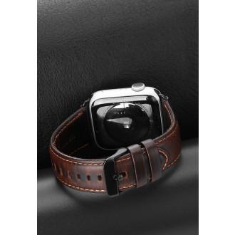 Tamsiai ruda, solidi, apyrankė Dux Ducis Business Version 42 / 44mm Apple Watch