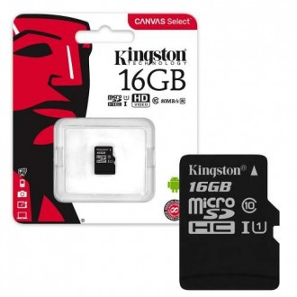 Atminties korta Kingston MicroSD 16Gb Class10