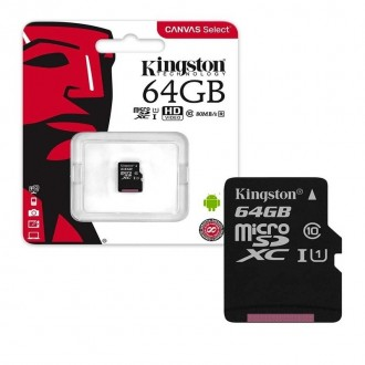 Atminties korta Kingston MicroSD 64Gb Class10
