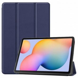 """Tamsiai mėlynas atverčiamas dėklas """"Smart Leather"""" Samsung T220 / T225 Tab A7 Lite 8.7"""