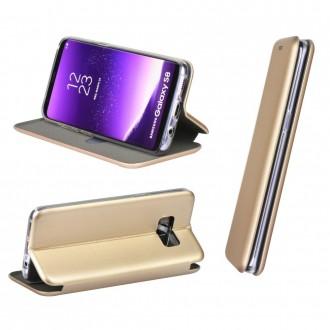 Aukso spalvos atverčiamas dėklas ''Book Elegance'' telefonui Huawei P Smart 2020