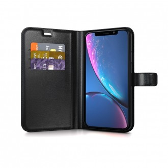 Atverčiamas Telefono Dėklas/Piniginė BeHello Gel Wallet Samsung A525 A52 / A526 A52 5G juodas