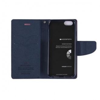 """Geltonos spalvos Mercury Goospery atverčiamas dėklas """"Fancy Diary"""" telefonui Apple iPhone 6"""