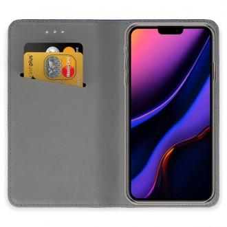 """Auksinės spalvos atverčiamas dėklas Apple iPhone 11 Pro Max telefonui """"Smart Magnet"""""""